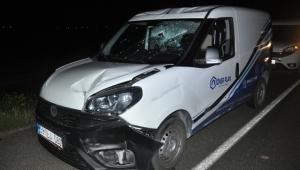 Kayseri Sarıoğlan'da etkili olan rüzgar kazaya neden oldu!