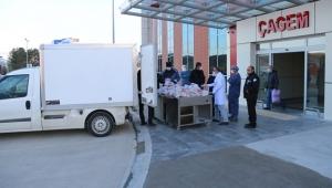 Sivas'da Başkan Bilgin'den Fedakar Sağlıkçılara İftar Yemeği!