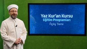 Ali Erbaş: 2020 yaz Kur'an kurslarının uzaktan eğitimle yapılmasını kararlaştırdık