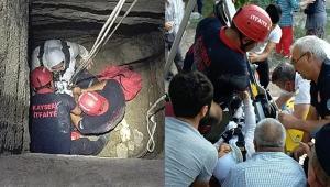 15 metrelik su kuyusuna düşen İrem, yaralandı!