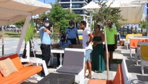 Antalya'da halkın sahilden rahatça faydalanmasına engel teşkil eden ihlaller tespit edildi!