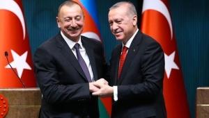 Azerbaycan Cumhurbaşkanı Aliyev, Cumhurbaşkanı Erdoğan'a teşekkür etti!