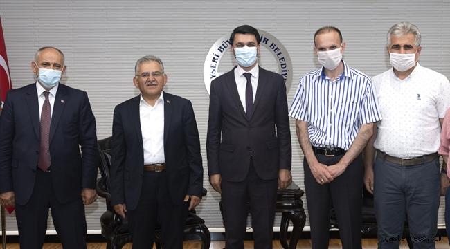 Başkan Büyükkılıç, Yahyalı Kaymakamı ve Belediye Başkanı ile birlikte Yahyalı Meclis Üyelerini kabul etti!