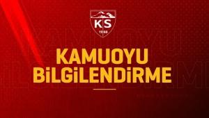 Hes Kablo Kayserispor'da Covid-19 Test Sonuçları Belli Oldu!