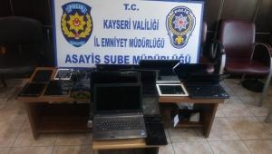 Kayseri'de elektronik eşya hırsızlığına 2 gözaltı