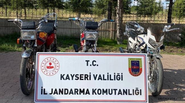 Kayseri'de motosiklet hırsızlığına 2 gözaltı