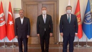 Kayseri Melikgazi Başkanı Palancıoğlu, Milli Savunma Bakanı Hulusi Akar'ı Ziyaret Etti!