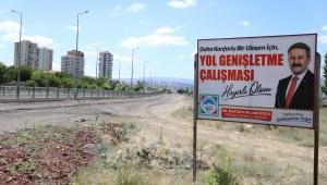 Kayseri Melikgazi Belediyesi Hulusi Akar Bulvarı ile Sivas Caddesi Arasında Yol Genişletme Çalışmalarına Başladı!