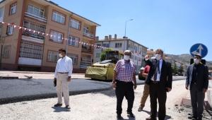 Kayseri Melikgazi Lefke Caddesi'nde Asfalt Çalışması!