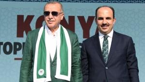 Konya'da Başkan Altay Cumhurbaşkanı Erdoğan'a Teşekkür Etti!