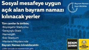 Konya'da, Bayram Namazı Belirlenen Açık Alanlarda da Kılınacak!