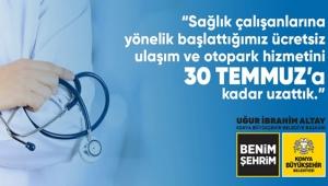 Konya'da Sağlık Çalışanlarına Ücretsiz Ulaşım ve Otopark Uygulaması Devam Ediyor!