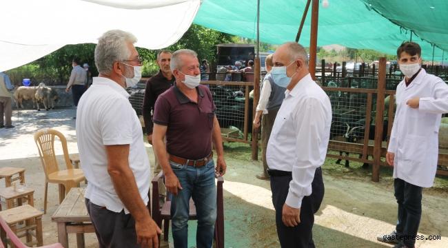 Yahyalı Belediye Başkanı Esat Öztürk, Kurban Pazarını Ziyaret Etti!