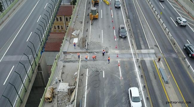 Haliç Köprüsü'nde ikinci etap çalışması havadan böyle görüntülendi!