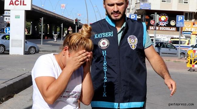 Kayseri'de evlerden hırsızlık yapan kadın yakalandı!
