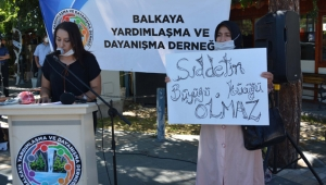 Kayseri'de kadına yönelik şiddete tepki vardı!