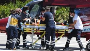 Kayseri'de, Otomobilin şarampole devrildiği kazada 1 kişi öldü, 3 kişi ise yaralandı!