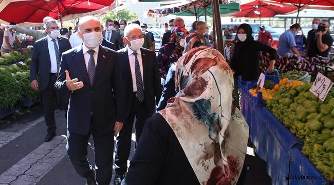 Kayseri'de Vali ve Başkan'dan Pazar Yerleri Denetimi!