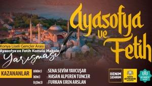 """Konya'da """"Ayasofya ve Fetih"""" Makale Yarışmasının Kazananları Belli Oldu"""