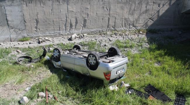 Otomobil kanala uçtu: 1 yaralı!