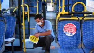 Başkent'te Toplu Taşıma Araçlarında Sosyal Mesafe Uygulaması!