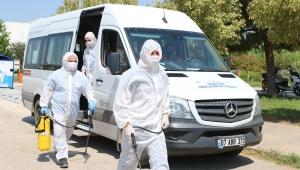 Büyükşehir Belediyesi KPSS sınavı öncesi okulları dezenfekte ediyor !
