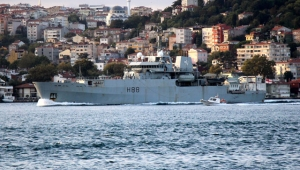 İngiliz araştırma gemisi İstanbul Boğazı'ndan geçti!
