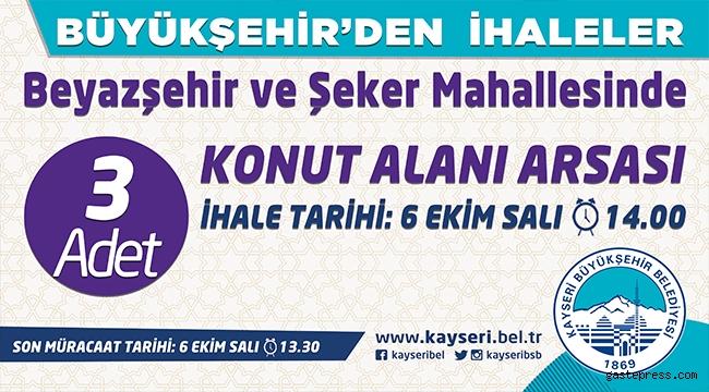 Kayseri Büyükşehir'den İhaleler!