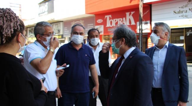 Kayseri İl Sağlık Müdürü Benli ve İl Tarım ve Orman Müdürü Şahin'den Maske Denetimi!