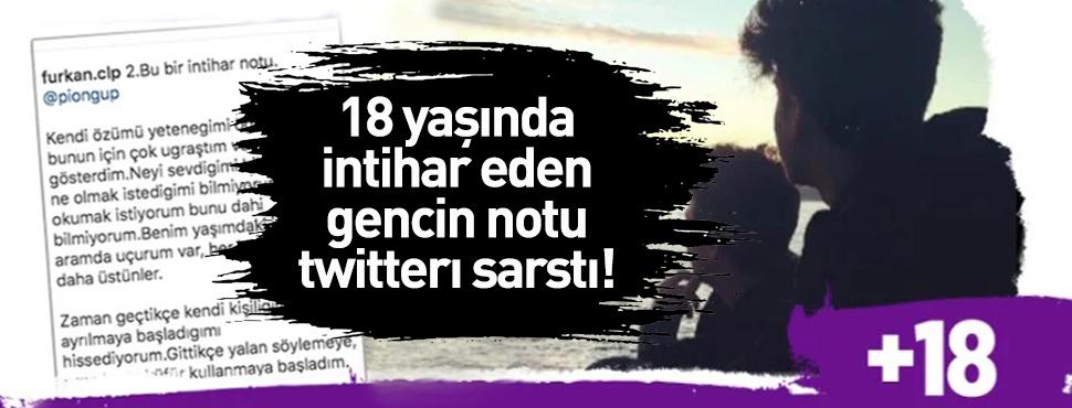 Kocaeli'de Furkan Celep'in bıraktığı intihar notu olay oldu!
