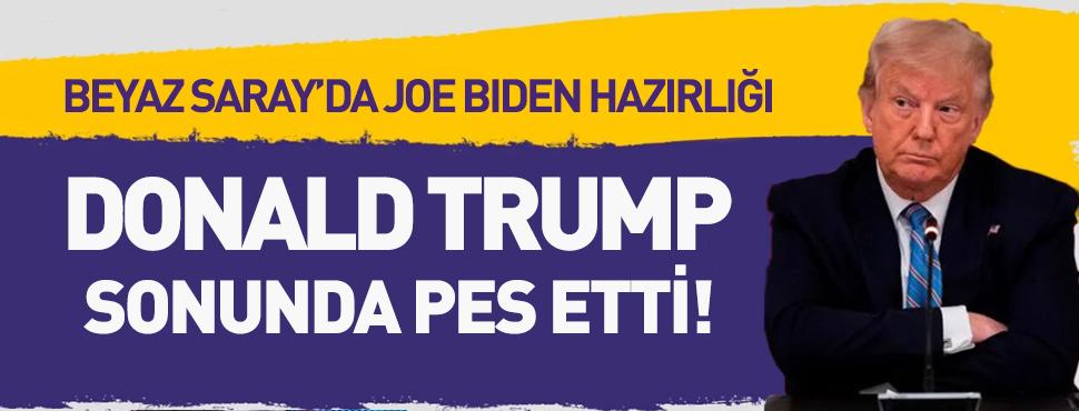 Donald Trump sonunda pes etti! Biden için onay verdi!