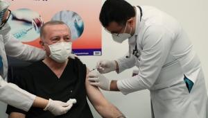 Cumhurbaşkanı Erdoğan Covid-19 aşısı oldu!