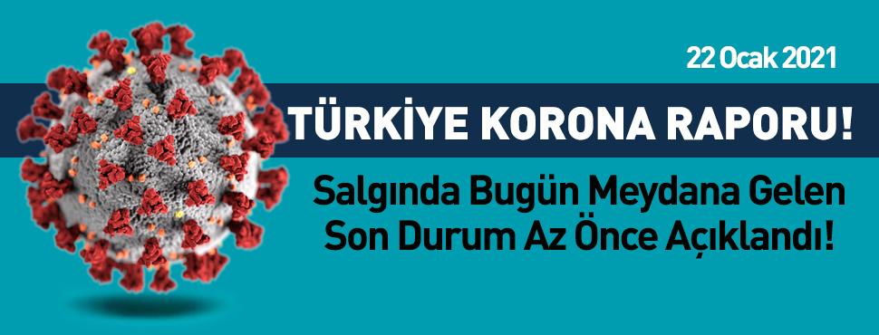 Türkiye'deki corona virüsü vaka ve ölü sayısında son durum (22 Ocak 2021)