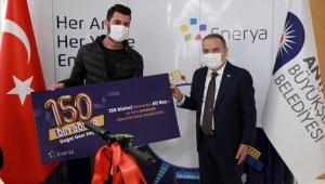 Antalya Büyükşehir'de 150 bininci doğal gaz abonesi için tören düzenlendi!