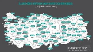 Bakan Fahrettin Koca açıkladı! İşte son korona haritası!
