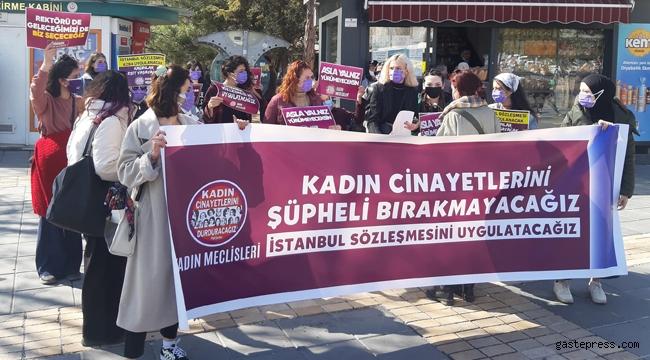 Kayseri'de bugün kadın cinayetleri protesto edildi!