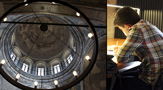 Kiliseden dönüştürülen kütüphaneye 15 ayda 270 bin ziyaretçi!
