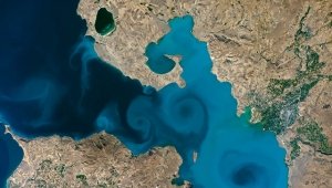 Van Gölü'nün uzaydan fotoğrafı, NASA'nın turnuvasında birinci oldu!