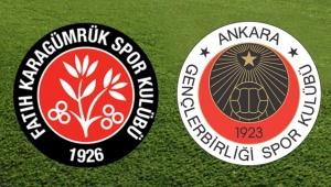 Fatih Karagümrük - Gençlerbirliği maç sonucu: 5-1