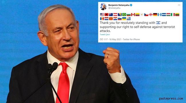 İsrail Başbakanı Netanyahu katliama destek veren ülkeleri paylaştı!