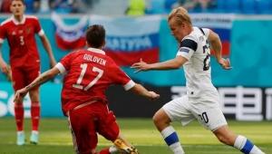EURO 2020'de, Rusya Finlandiya'yı tek golle geçti!