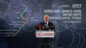 Gebze-Darıca metro hattı 2023 yılında hizmete girecek!