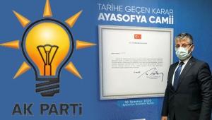AK Parti Kayseri İl Başkanı Şaban Çopuroğlu'ndan 'Ayasofya' Paylaşımı!