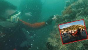 Bakan Pakdemirli, Marmara Denizinde dalış yaparak hayalet ağ çıkardı!
