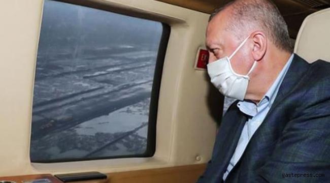 Cumhurbaşkanı Erdoğan'ın helikopteri hava muhalefeti nedeniyle zorunlu iniş yaptı!