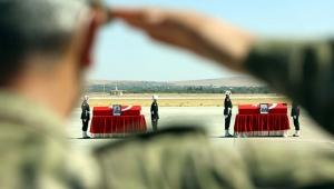 Gaziantep'te şehitler için uğurlama töreni!