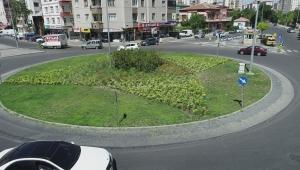 Kayseri Melikgazi'de tüm kavşaklar yeşilleniyor!