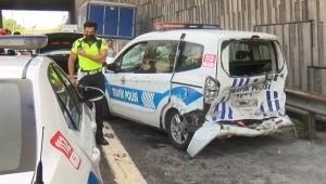 Sarıyer TEM'de meydana gelen zincirleme kazada 2'si polis 3 kişi yaralandı!
