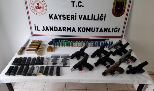 Kayseri'de kaçak silah ticareti operasyonu: 9 gözaltı!