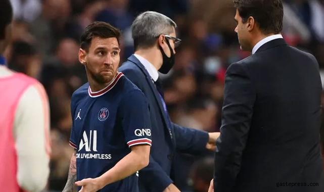 Pochettino Messi'yi oyundan aldı yıldız oyuncunun tepkisi!